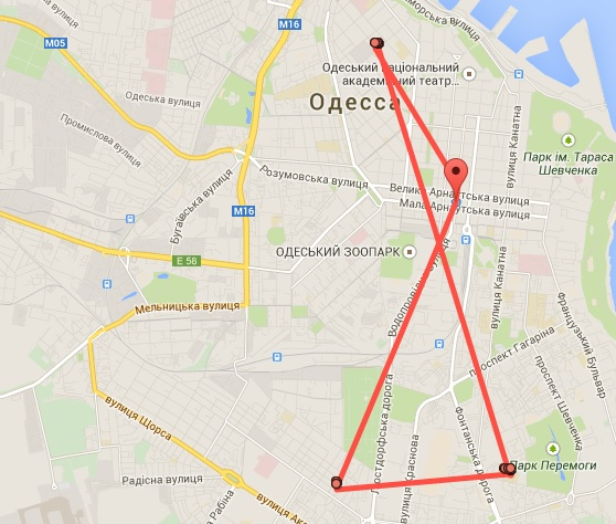 Наши перемещения на местности в памяти Google