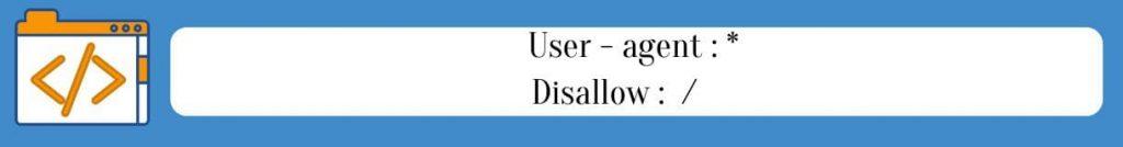 Запрет сайта индексироваться в robots.txt
